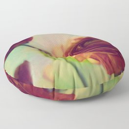 Painted Ranunculus Floor Pillow