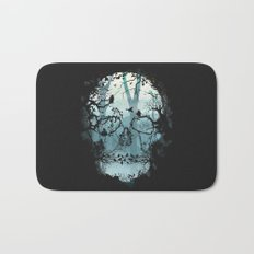 Dark Forest Skull Bath Mat