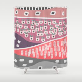 Apples and grains Shower Curtain