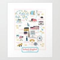 maryland Art Prints featuring Frederick, Maryland by Eine Kleine Design Studio