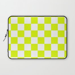 Chartreuse Checkers Pattern Laptop Sleeve