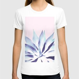 Solar Agave - Pastel blue on pink T-shirt