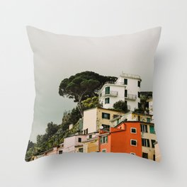 top of riomaggiore Throw Pillow