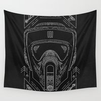 trooper Wall Tapestries featuring Scout Trooper by Jon Deviny