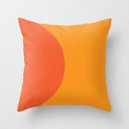 Orange Rising Throw Pillow