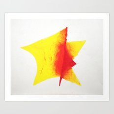 Geometric Sun Art Print