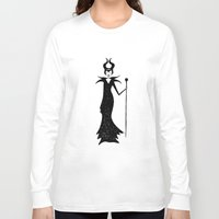 maleficent Long Sleeve T-shirts featuring maleficent by kate gabrielle