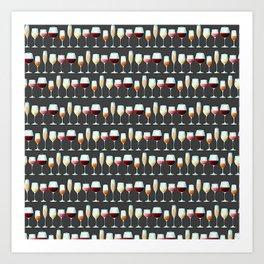 All the Wine Pattern Art Print