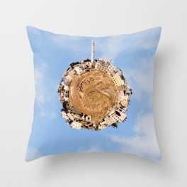 """Worlds in Jerusalem"" - East Jerusalem Neighborhood Throw Pillow"
