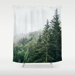 Mist Fog Forest Shower Curtain