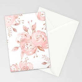 Roses Rose Gold Glitter Pink by Nature Magick Stationery Cards