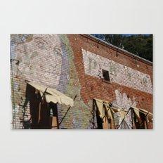 Paint Brick Face Canvas Print