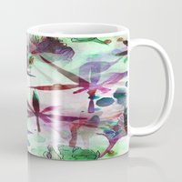 northern lights Mugs featuring Northern Lights by Cannabis Color Art