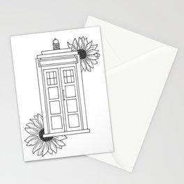 Doctor Who Tardis Illustration Design Stationery Cards