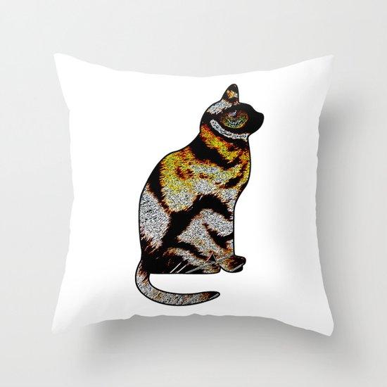 CAT TIGER Throw Pillow