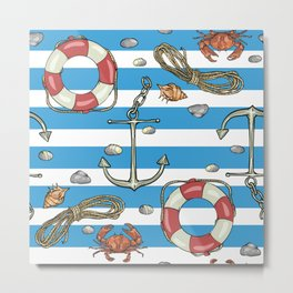 Mediterranean Nautical decor Metal Print