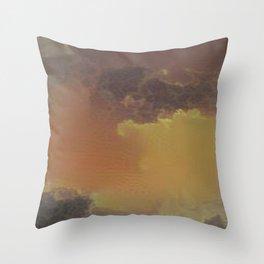 Brownish Cloud Pattern Throw Pillow