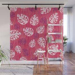 Tropical leaf pattern Wall Mural