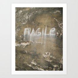 Fragile city Art Print