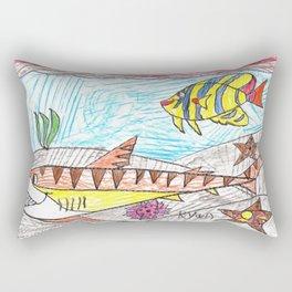 Tiger Shark Too Rectangular Pillow