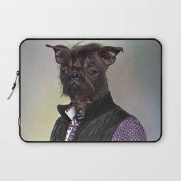 Hairless dog, mix French bulldog / Chinese Crested Dog Laptop Sleeve