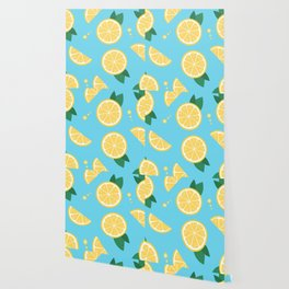 Lemon pattern Wallpaper