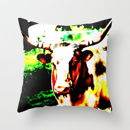 Abstract Longhorn Throw Pillow