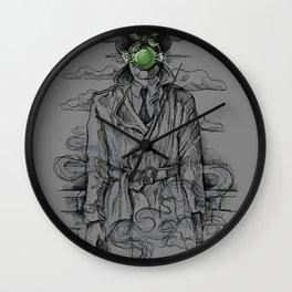 Magritte Noir Wall Clock