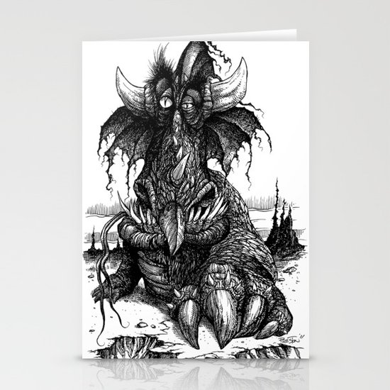 Drowsy Dragon Stationery Cards