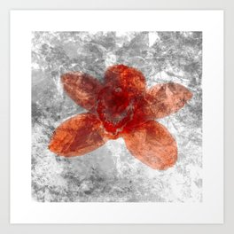 "Red Flower 10""  Art Print"