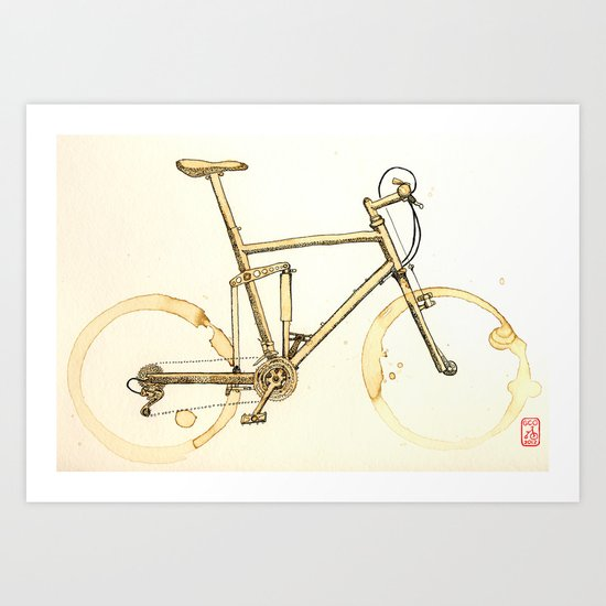 Coffee Wheels #02 Art Print
