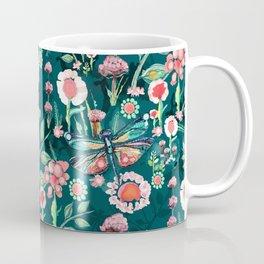 Botanical Dragonfly Garden Coffee Mug