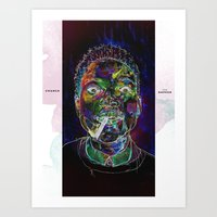 chance the rapper Art Prints featuring Chance the Rapper by Zach Hoskin Art + Design