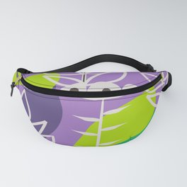 Floral style in purple Fanny Pack
