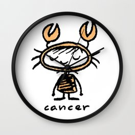 crabby cancer cutie pie Wall Clock