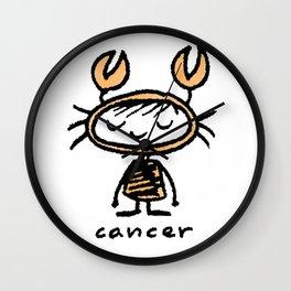 crabby cancer cutie pie Wall Clock