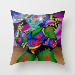 Alien Wear Throw Pillow