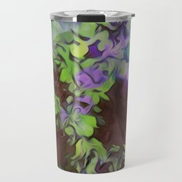 Old Tree Thick Branches Green & Blue Colors Travel Mug