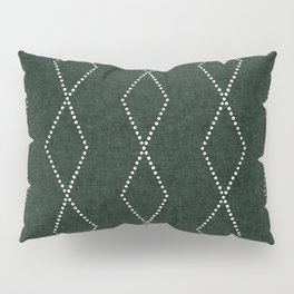 geometric diamonds - evergreen Pillow Sham