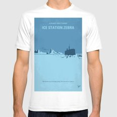 No711 My Ice Station Zebra minimal movie poster MEDIUM White Mens Fitted Tee