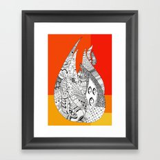 Fuego Framed Art Print