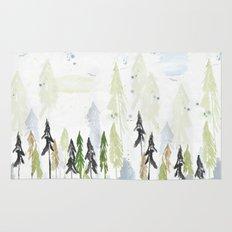 Into the woods woodland scene Rug