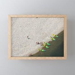 Five Canoes Framed Mini Art Print
