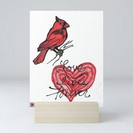love lives forever Mini Art Print