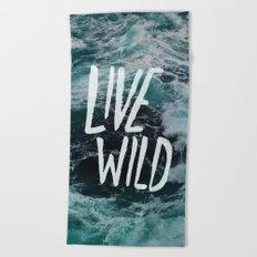 Live Wild Big Sur Beach Towel