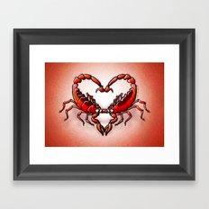 Loving Scorpions Framed Art Print