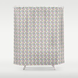 Roses & Forget Me Nots Yellow Shower Curtain