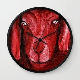 Goat Head Wall Clock