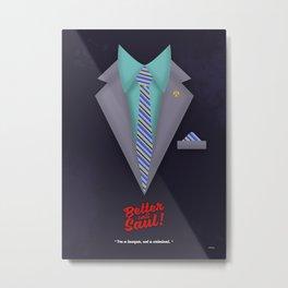 "Better Call Saul - Suit No. #2 - James Morgan ""Jimmy"" McGill's Style. Metal Print"