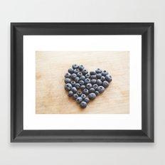 Blueberry Heart Framed Art Print